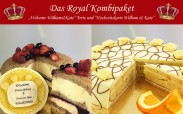 """Kombipaket Royal"" - Welcome-Torte William & Kate, Hochzeitstorte William & Kate"
